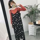 DE SHOP~碎花雪紡無袖吊帶洋裝  (HL-6819)