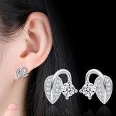 百搭飾品個性設計甜美葉芽子耳釘 新款耳釘女耳飾品 《小師妹》ps467