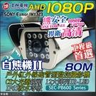 【台灣安防家】士林電機 SONY 芯片 AHD 白熊機 2MP LED 紅外線 防水 攝影機 適 1080P DVR 工程寶 傳輸器