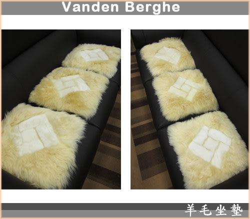 范登伯格-羊毛超柔立體坐墊-雪菱格(米)40x40cm