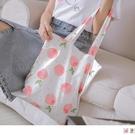 《YA301》可愛水果印花單肩帆布包 O...