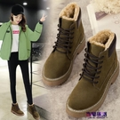 雪靴 2019冬季新款平底加絨短靴女英倫風馬丁靴學生棉鞋保暖防滑雪地靴