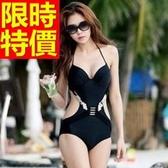 連身泳衣 泳裝-音樂祭衝浪溫泉必備比基尼俏麗別緻2色54g70【時尚巴黎】