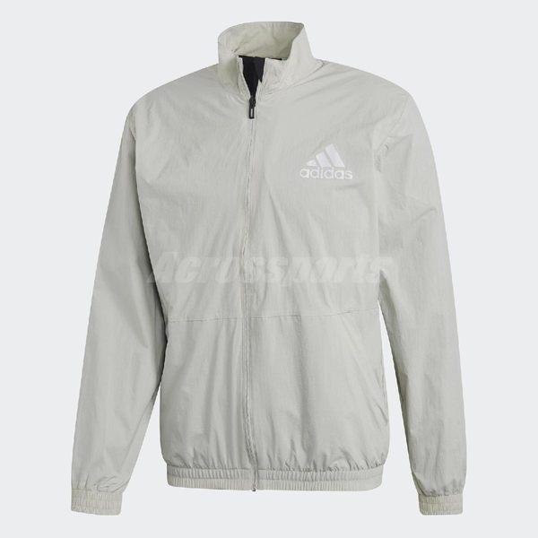 adidas 防風外套 ID Wind Track Jacket 灰 立領夾克 反光 男款 【PUMP306】 CW3250