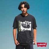 Levis 男款 短袖T恤 / 滑版系列 / 街頭塗鴉 / 黑