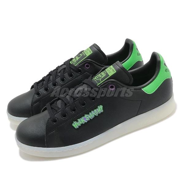 adidas 休閒鞋 Stan Smith 黑 綠 浩克 Hulk 聯名 男鞋 愛迪達 三葉草【ACS】 FZ2708