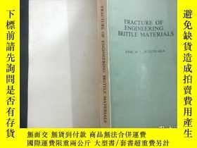 二手書博民逛書店FRACTURE罕見OF ENGINEERING BRITTLE MATERIALSY210251 出版