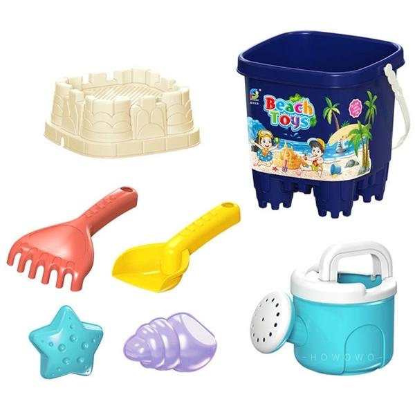 沙灘玩具 挖沙工具 7件組 馬卡龍色 兒童玩水 沙坑玩具 玩沙工具 海灘 沙鏟 堆沙堡 3322 戲水玩具