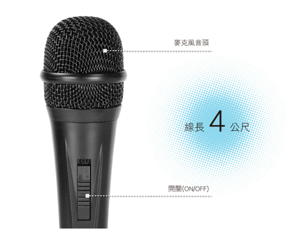 《鉦泰生活館》KINYO 金葉 DM-901高感度專業麥克風