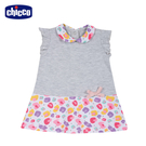 chicco-TO BE-印彩點拚接短袖洋裝