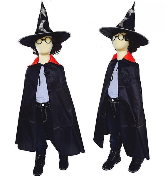 四件式魔法披風造型組 萬聖節化妝表演舞會派對造型角色扮演服裝道具