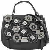 茱麗葉精品【全新現貨】MICHAEL KORS CASSIE LG 立體花朵造型手提兩用包.黑