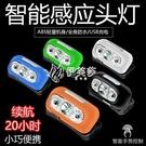 快速出貨頭燈LED揮手感應全防水強光超亮頭戴式釣魚燈USB充電夜釣超長待機