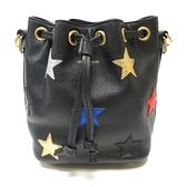 SAINT LAURENT YSL 聖羅蘭 黑色牛皮星星圖案手提斜背兩用包 Emmanuelle Bag BRAND OFF