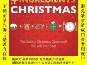 二手書博民逛書店4罕見Ingredients Christmas 聖誕節美味食譜