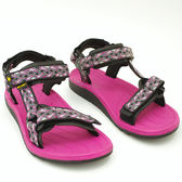 平底涼鞋 戶外海灘鞋 女 休閒鞋 夏季 桃紅《Life Beauty》