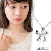 愛的結結 純銀蝴蝶結925純銀項鍊 - 維克維娜