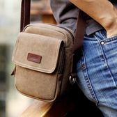 韓版男士單肩包帆布包戶外運動小背包 東京衣櫃