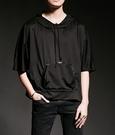 找到自己 韓國潮流 個性 寬鬆 連帽 口袋 五分 時尚 街頭潮男 夜店 DJ 發型師 必備 短袖T恤 特色短T
