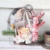 圣誕節創意藤編30cm小號五星花環門掛房間圣誕布置裝飾品 露露日記