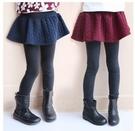 長褲裙褲 女童假兩件灰褲裙褲(內裡加絨) W65056