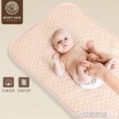 spiritkids嬰兒隔尿墊防水可洗透氣寶寶尿墊彩棉大號床墊月經墊  印象家品旗艦店