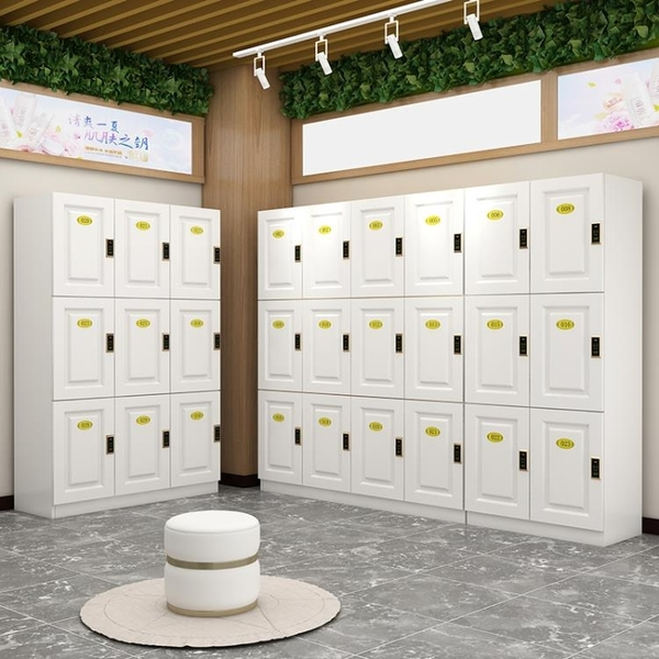 儲物櫃 木質健身房更衣柜儲物柜瑜伽館浴室洗浴中心美發理發店存包柜帶鎖 ATF koko時裝店
