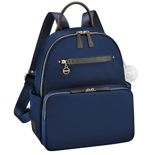 Kanana卡娜娜 多功能尼龍中型後背包/附零錢包(深藍色)241005-03