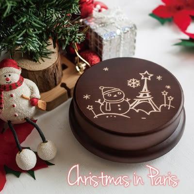 【生日禮物、紀念禮物、聖誕禮物】聖誕巴黎┇ 旋轉音樂盒 聖誕禮物 禮物 客製化