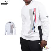 Puma BMW 男 白色 長袖 上衣 Street 運動 休閒 保暖 厚長袖 T桖 57664402