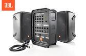 【音響世界】美國JBL EON208P攜帶型 8吋2音路喇叭八軌300W藍芽擴大混音器附AKG麥克風/喇叭架/線材