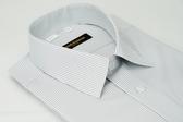 【金‧安德森】灰白條紋吸排短袖襯衫