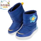 《布布童鞋》ArnoldPalmer雨傘牌星星印花藍色兒童中筒靴(14~18公分) [ M8Q652B ]