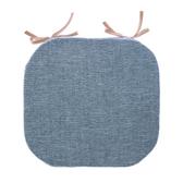 浮紋編織馬蹄餐椅墊38x41cm雙染藍
