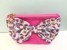 【震撼精品百貨】Hello Kitty 凱蒂貓~Hello Kitty 凱蒂貓化妝包-大緞帶心粉