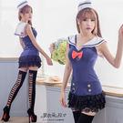 水手服 制服 萌系女孩角色扮演海軍水手領連身裙-愛衣朵拉
