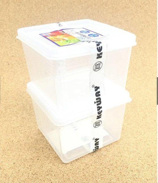 《一文百貨》KEYWAY方型巧麗密封盒二入300ML/G602/台灣製造