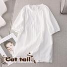 《貓尾巴》LA-0039 甜美設計感花邊...