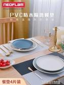 餐桌墊隔熱墊北歐西餐墊PVC家用餐盤碗墊子防燙墊歐式防水防滑墊 優樂美