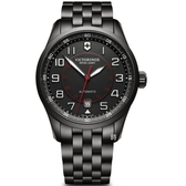 VICTORINOX 瑞士維氏 Airboss 飛行機械錶 (VISA-241740) 黑殼/42mm