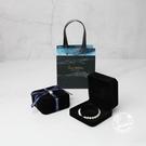 戒指盒 黑色首飾盒包裝盒耳釘盒項?盒灰色高檔首飾禮盒黑色禮盒