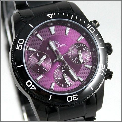 【萬年鐘錶】 Roven Dino 羅梵迪諾 楊丞琳代言 全黑紫女錶 RD616B