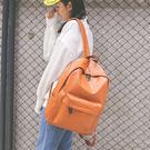 店慶優惠-簡約雙肩包休閒背包女韓版學院風中學生書包