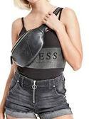 現貨 GUESS 美國經典款 腰包 新款 字母設計 全黑 百搭 PVC 男女皆可 18GF-381