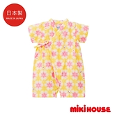 MIKI HOUSE 日本製 舞颯兔和風花柄浴衣