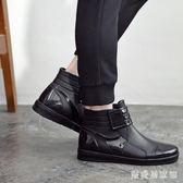 夏男士雨鞋短筒防滑防水鞋低幫工作膠鞋洗車水靴釣魚雨靴男 QG5639『樂愛居家館』