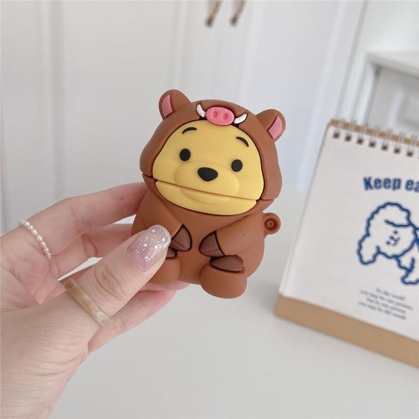 [ Airpods Pro 1/2 ] 野豬維尼熊 蘋果無線耳機保護套 iPhone耳機保護套