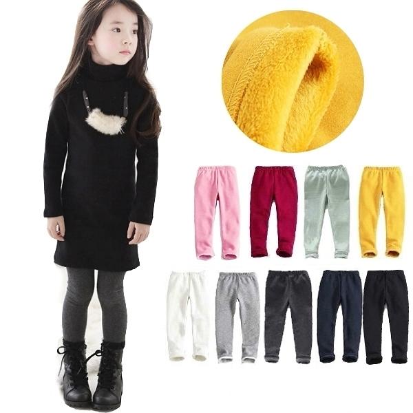 素色好搭內刷毛內搭褲 長褲 橘魔法 Baby magic 現貨 兒童 童裝 童褲 女童 男童 中性款