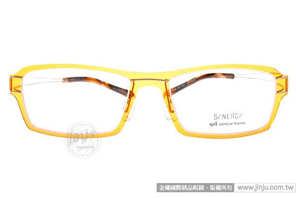 SYNERGY 光學眼鏡 SY3605 C018 (橘棕) NXT 防彈材質 極簡結構 平光鏡框 # 金橘眼鏡