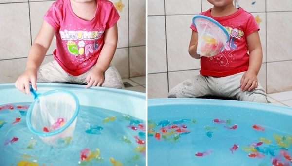 I 組(大金魚50隻+20隻不重複款螺絲魚+贈1支不破網+贈1支升級伸縮釣竿)可當洗澡玩具